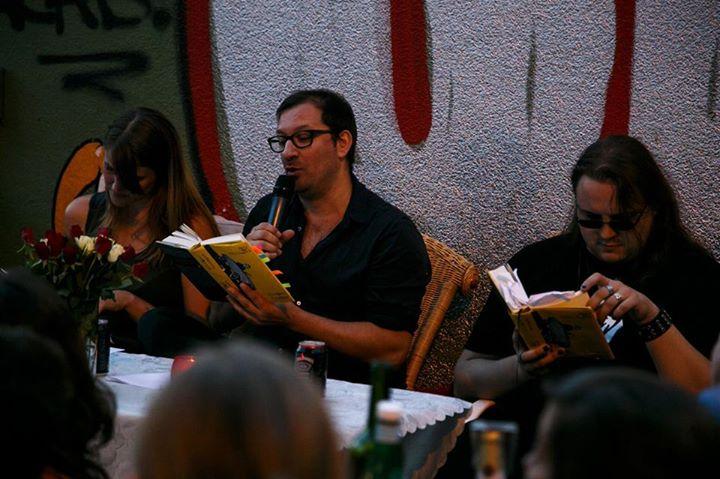 Das Tribunal der Bücher - Andrea Baron, Jannis Plastargias und Martin Piekar reden über Bücher - an der Trinkhalle