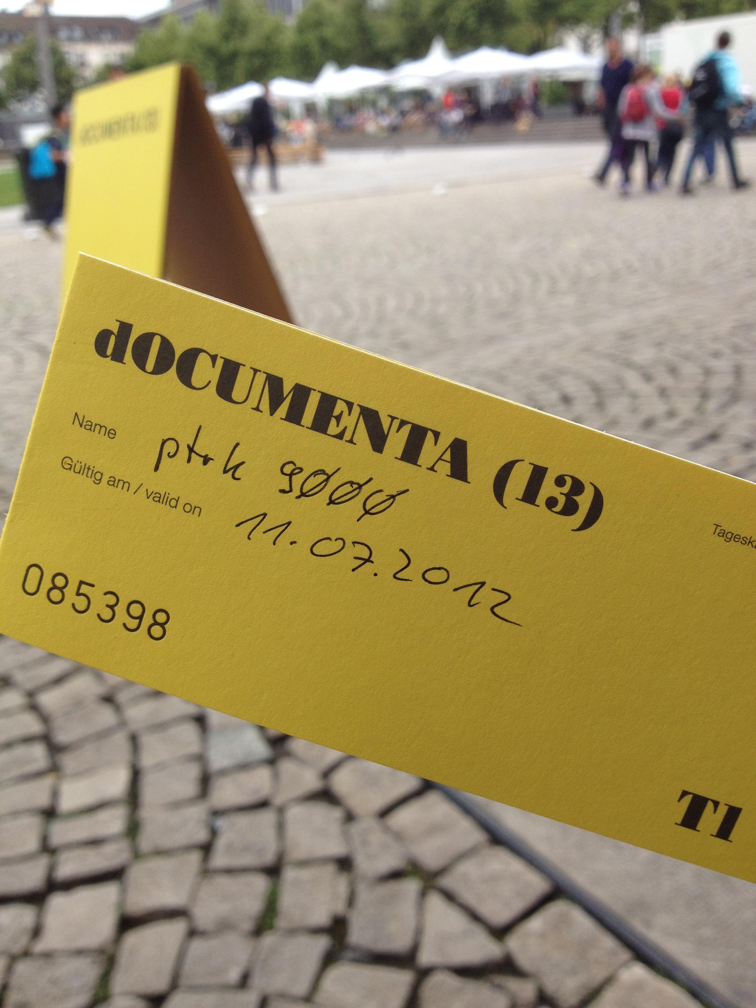 documenta13 - Das Tagesticket lohnt sich!